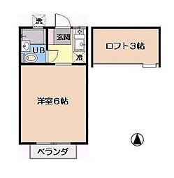 千葉県浦安市当代島1丁目の賃貸アパートの間取り