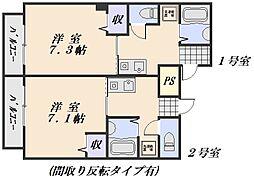 インカム21[3階]の間取り