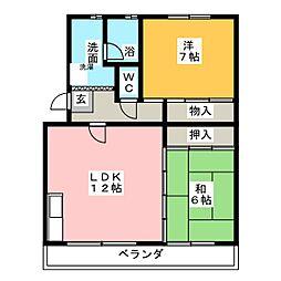 長久手IHマンション[4階]の間取り