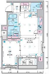 ジェノヴィア東神田グリーンヴェール 2階1LDKの間取り