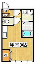 Casa22[203号室]の間取り