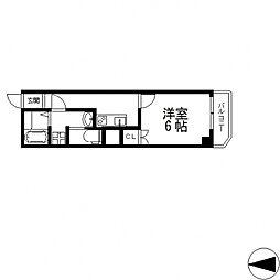 ヴェルドミール小阪[2階]の間取り