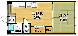大和川マンション1号館[3階]の間取り