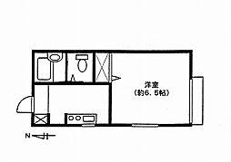 埼玉県さいたま市中央区鈴谷2丁目の賃貸アパートの間取り