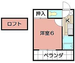 エクセレント藤井[204号室]の間取り
