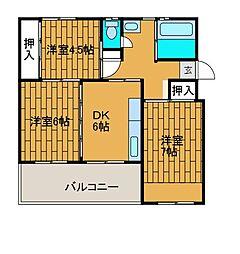 相武台団地1510[2階]の間取り