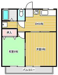 宮塚ハイツ[102号室]の間取り