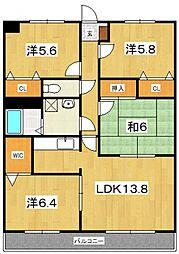 ディアコート(前川)[402号室号室]の間取り