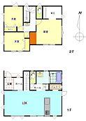 建物プラン施工例(2階建て参考間取り)