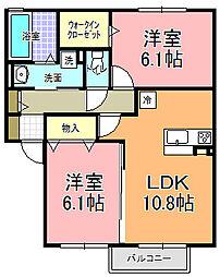 仮)D−room寄井 J[202号室]の間取り