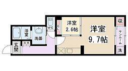 アンシャンテ伊丹[1階]の間取り