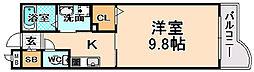 兵庫県伊丹市池尻1丁目の賃貸アパートの間取り