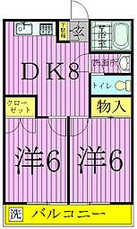 浜田第一第二マンション[1403号室]の間取り