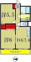 ニコーガーデンコート[2階]の間取り