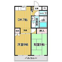 シティパル戸塚III[1階]の間取り