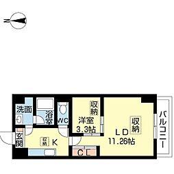 新潟県新潟市中央区南笹口1丁目の賃貸マンションの間取り