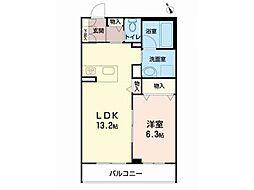 仮)べレオ八幡 2階1LDKの間取り
