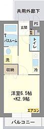 静岡県三島市文教町2丁目の賃貸マンションの間取り