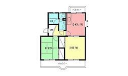 ミレイユマンション[301号室]の間取り