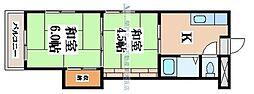 ハイネスト八戸ノ里[4階]の間取り