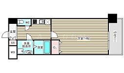 Pi'ece charmante Fukushima 7階1Kの間取り