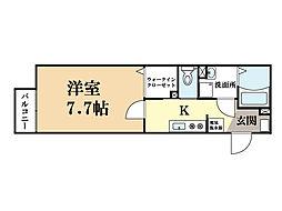 アスティリア (6号部屋)[1階]の間取り