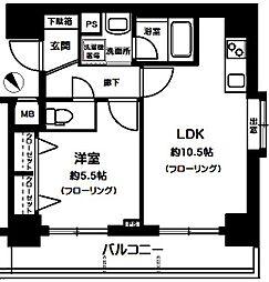 サンスタレ西浅草[8階]の間取り