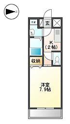 S-FLAT[4階]の間取り