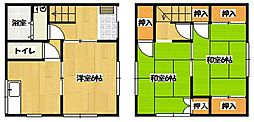 [タウンハウス] 神奈川県横須賀市大津町4丁目 の賃貸【/】の間取り