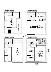 [一戸建] 神奈川県川崎市幸区小向仲野町 の賃貸【/】の間取り