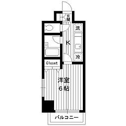 東京都練馬区谷原の賃貸マンションの間取り