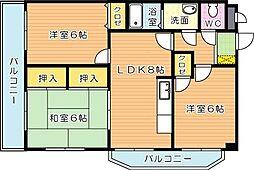 エクセル青葉台II[2階]の間取り