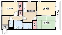 愛知県名古屋市瑞穂区日向町5の賃貸アパートの間取り