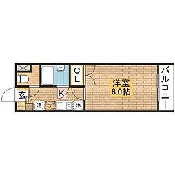 大阪府堺市西区鳳東町7丁の賃貸マンションの間取り