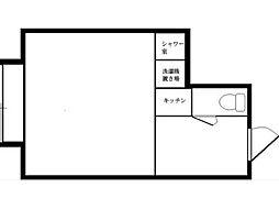 アクトレジデンス新小金井[2階]の間取り