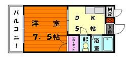 エステート松香台[2階]の間取り