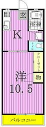 コーポ寿江[108号室]の間取り