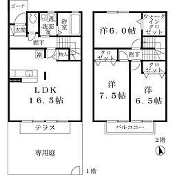 [テラスハウス] 大阪府堺市北区長曽根町 の賃貸【/】の間取り