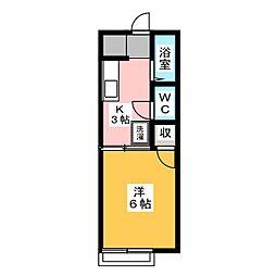 アーク・Seizan[2階]の間取り