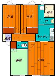 北海道札幌市手稲区富丘一条5丁目の賃貸アパートの間取り