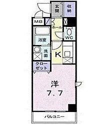 東京都大田区羽田4丁目の賃貸マンションの間取り