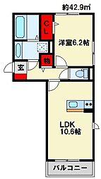 Polonia Kokura−kita[1階]の間取り