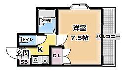 ルパッセ URAKAWA[405号室]の間取り