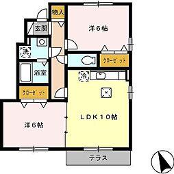 グランドソレーユII A棟[1階]の間取り