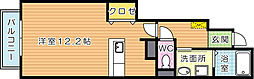サンフレイムYABEII A棟[1階]の間取り