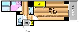 JR山陽本線 岡山駅 徒歩5分の賃貸マンション 3階1Kの間取り