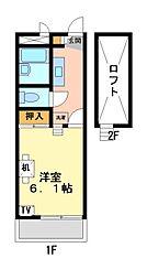 兵庫県姫路市安田2丁目の賃貸アパートの間取り