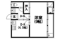菊香荘[101号室]の間取り