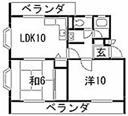 愛知県名古屋市昭和区南山町の賃貸マンションの間取り