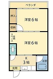 第2眞和荘[7号室]の間取り